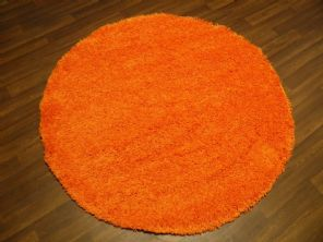 SHAGGY NEW 133X133CM CIRCLE RUGS WOVEN BACK CARVED ORANGE NEW THICK BARGAINS